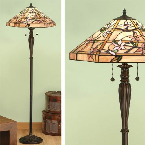 Clematis Floor Lamp (Nature) T047F (Tiffany style)